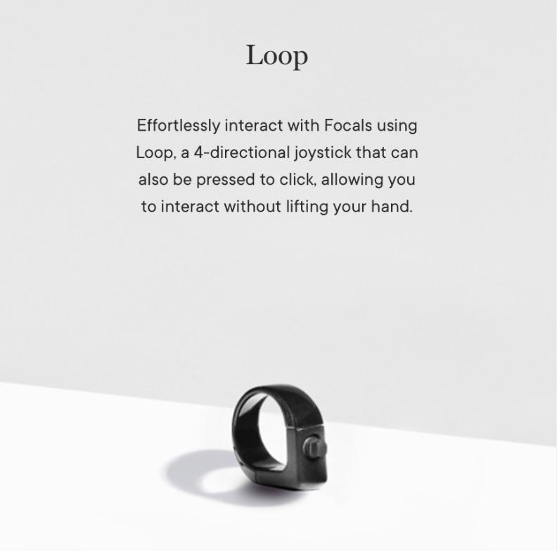 「Focals」の操作に必要なLoop