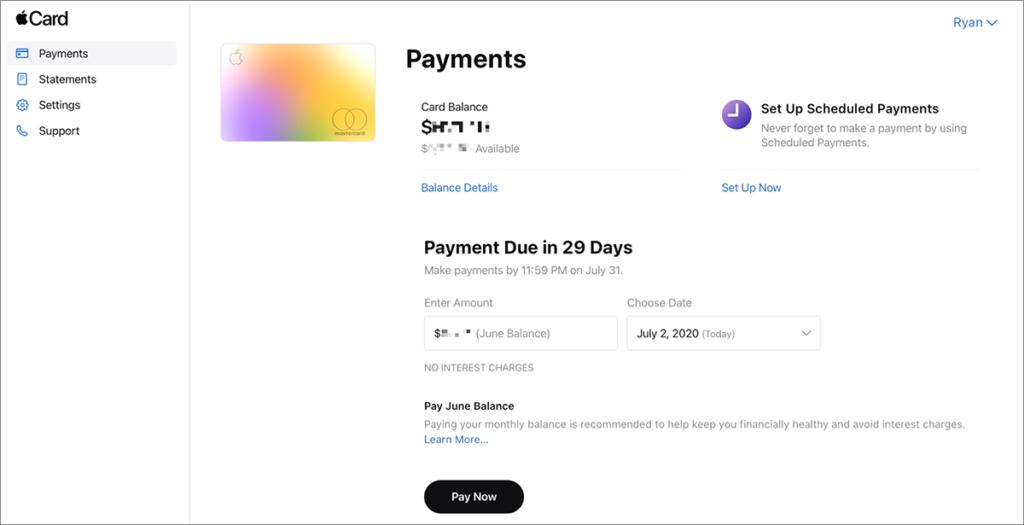 apple_web_portalアカウント画面