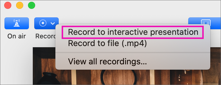 Interactive Recordings